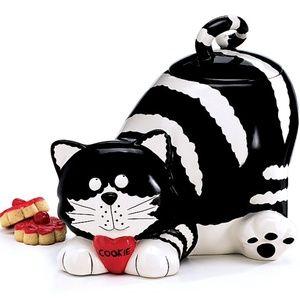 Ceramic Kitty Cat Cookie Jar